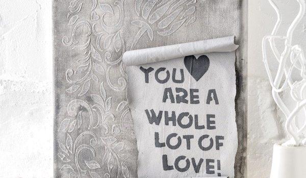 """efco Basteltipp: Bild """"Love"""" in Betonoptik"""