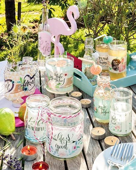 efco Basteltipp: Tischdekoration für die Gartenparty