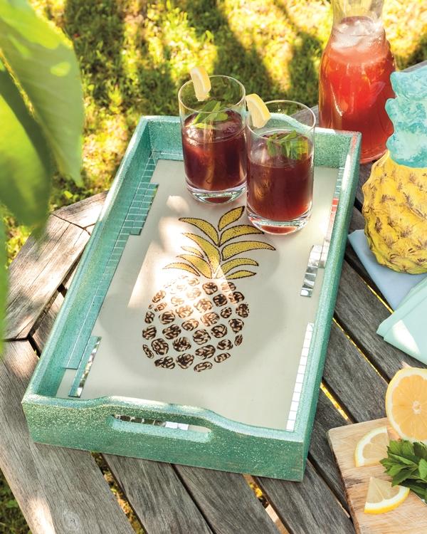 """efco Basteltipp: Brandmalerei Tablett """"Ananas"""""""