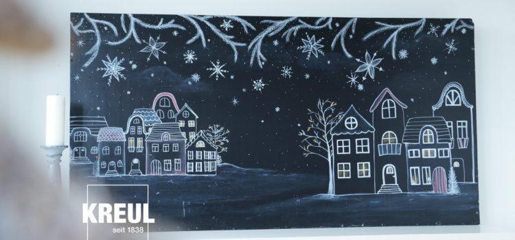 Let it snow! Mit KREUL Chalky Kreidemarker wird der Winter schöner