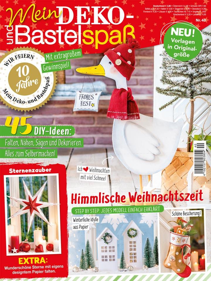 Deko- und Bastelspaß Nr. 40 Winter 2020, Titelseite