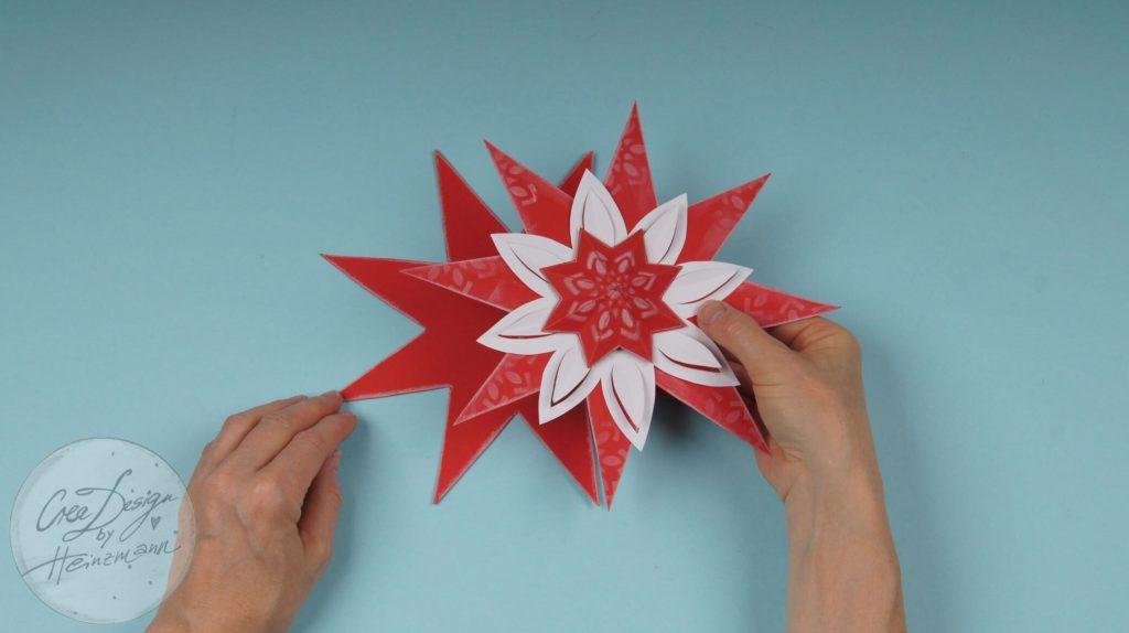 Mein DEKO- und Bastelspaß Winter 2020, Weihnachtssterne, Schritt 3