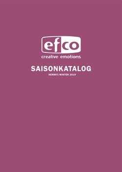 efco Saisonkatalog Herbst/Winter 2018, Titelbild