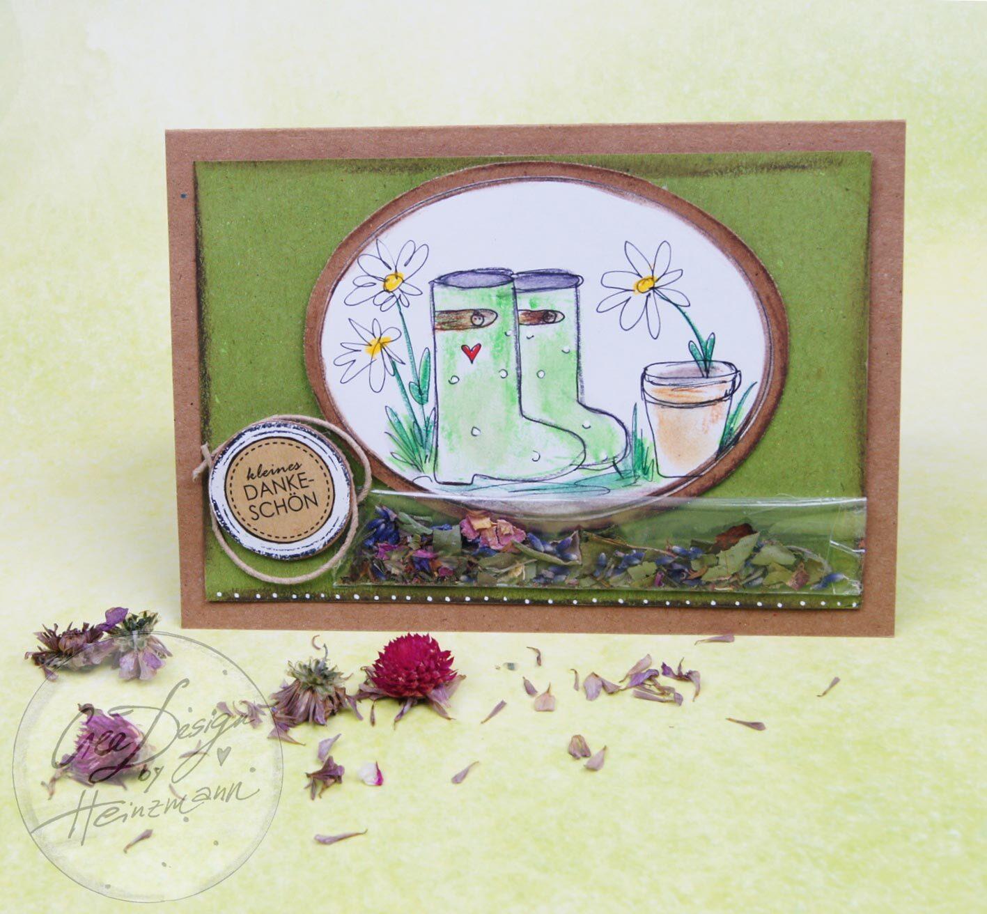 Deko- und Bastespaß Sommer 2021 (BS42), Gutscheinkarte für Blumenfreunde, Modellbild