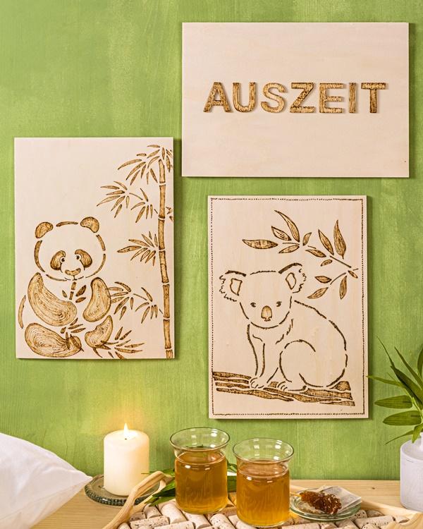 efco Basteltipp Brandmakerei Bild Koala